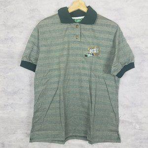 Large Vintage Team Kool Green Polo